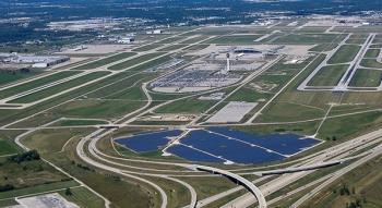 Indianapolis Repülőtér Napelem Erőmű
