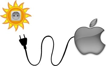 Apple napelem töltő