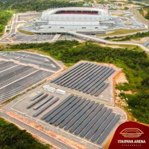 Brazil futball VB napelem erőműve