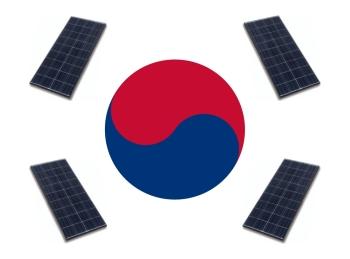 Korea Napelem zászló