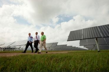 Obama és napelem