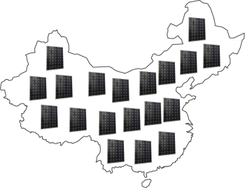 Kína tele napelem erőművel