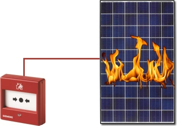 Napelem tűzvédelmi kapcsoló