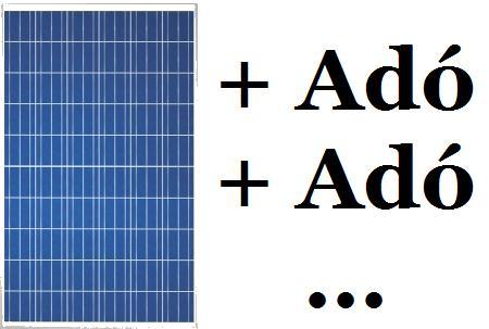 Második napelem adó